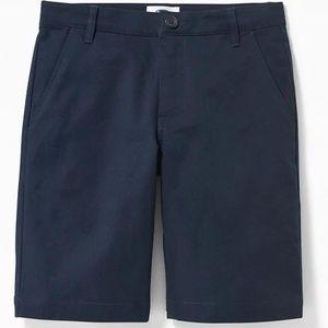 Built-In Flex Twill Straight Uniform Shorts Boys